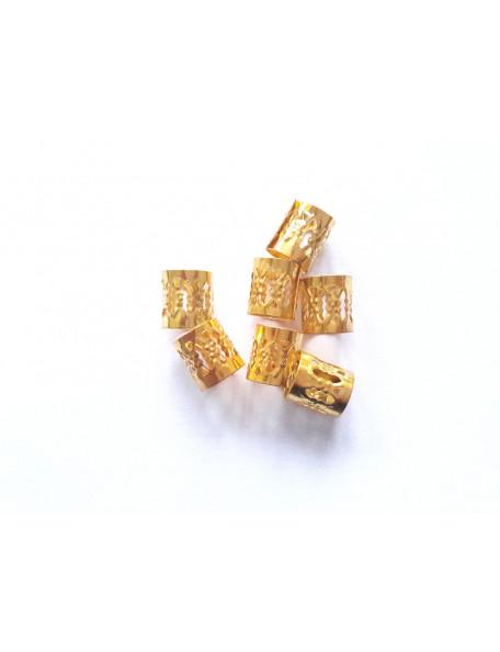 Perles de cheveux dorées