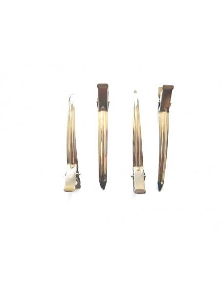 Pinces sépare mèche cheveux frisés et crépus - En métal