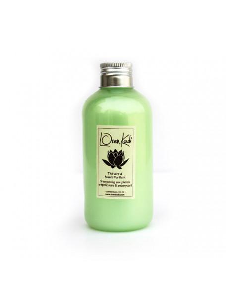 shampoing antipelliculaire thé vert neem - Loren Kadi