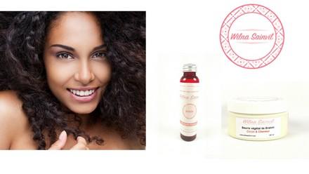 Wilna Sainvil cosmétique soin cheveux frisés cheveux afro beurre brahmi amla